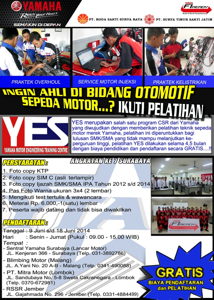 Dibuka YES 7 (Yamaha Motor Engineering Training Centre)